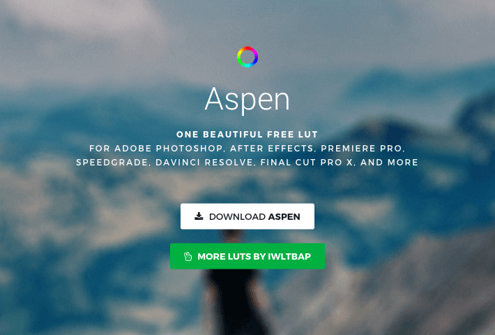 Free « Aspen » LUT Color Grading (based on Kodak Ektar 100 and